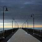 The pier after the rain  by annalisa bianchetti