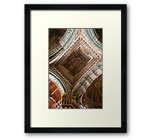 A Riot of Patterns, Domes & Vaults, Thanjavur Palace, India Framed Print
