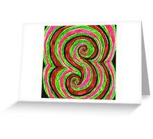 sixties swirls 01 Greeting Card