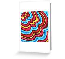 sixties swirls 02 Greeting Card