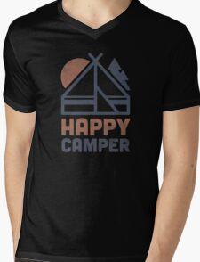 Happy Camper Mens V-Neck T-Shirt