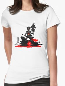 The Game of Kings, Wave Seven: The Black King's Pawn Womens Fitted T-Shirt
