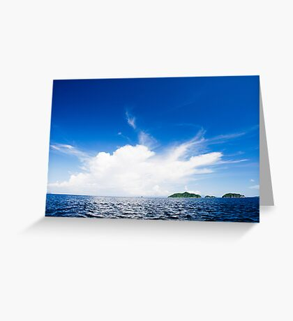 Blue And White Explosion! Greeting Card