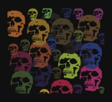 Skull Parade T-Shirt by simpsonvisuals