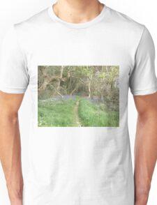 bluebell path Unisex T-Shirt