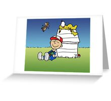Charlie Brown Pokemon Master Greeting Card