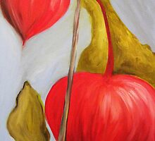 Chinese Lanterns. 16 x 20 Acrylic. by csoccio100