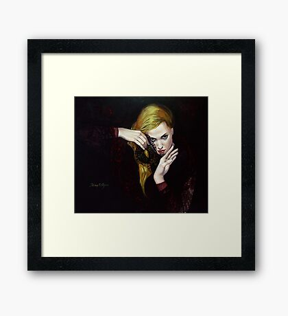"MAGIE NOIR - from ""Hidden sight"" series Framed Print"