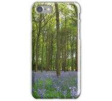 The perfect spread of bluebells iPhone Case/Skin