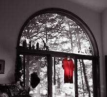 Red Shirt in an Arched Window by Wayne King