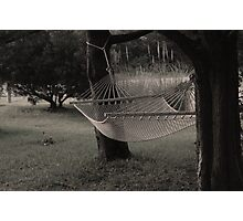 Empty Hammock Photographic Print