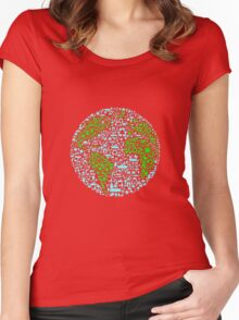 global Women's Fitted Scoop T-Shirt