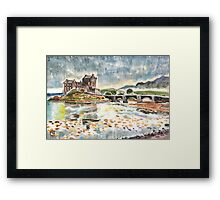 Eilean Donan After Steve Smith photo~Charles Burchfield painting style by Hopebaby. Framed Print
