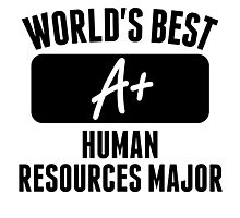 World's Best Human Resources Major Photographic Print