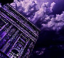 Purple Building Paris Fine Art Print by stockfineart