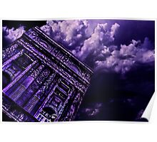 Purple Building Paris Fine Art Print Poster