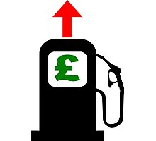 Rising Petrol Prices in the United Kingdom Photographic Print