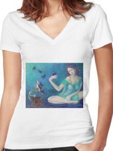 """""""Velvet obsessions"""" Women's Fitted V-Neck T-Shirt"""