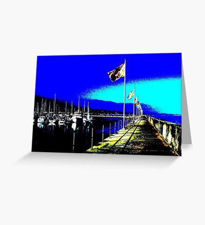 Santa Barbara CA Marina Greeting Card