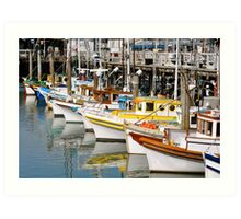 Colorful Tugs in a Row Art Print