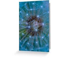 Dandelion in blue and green tones Greeting Card