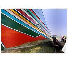 Boat painter - colors of rainbow Poster