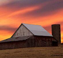 Old Barn at Sunset by Richard Skoropat