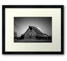 Black and White Barn Framed Print
