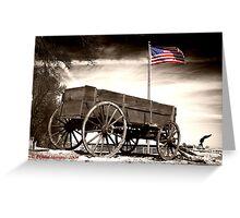 Wagon and Flag Greeting Card
