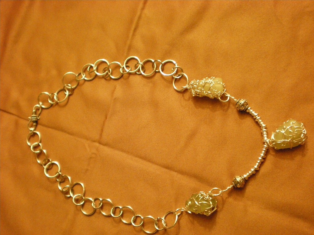 wire wrapped necklace by Sherry Laird