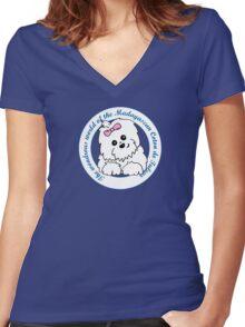 Life circle Coton de Tulear - The wondrous world of the Coton de Tulear Women's Fitted V-Neck T-Shirt