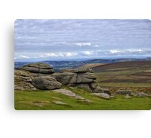 View from Haytor, Dartmoor, Devon Canvas Print