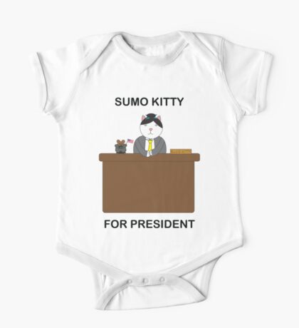 Sumo Kitty For President Kids Clothes