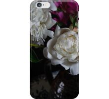 Peonies in a vase iPhone Case/Skin