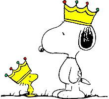 Snoopy and Woodstock Kings Photographic Print