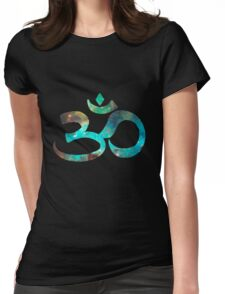 Space Om Womens Fitted T-Shirt