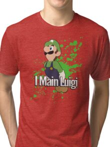 I Main Luigi - Super Smash Bros. Tri-blend T-Shirt