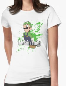 I Main Luigi - Super Smash Bros. Womens Fitted T-Shirt