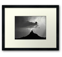 Lightning Striking Pinnacle Peak Framed Print