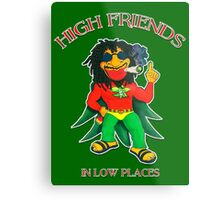 High Friends - Low Places Metal Print