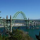 The Yaquina  Bay Bridge by worldtripper