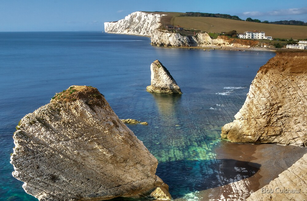 Freshwater Bay, Isle of Wight, England by Bob Culshaw