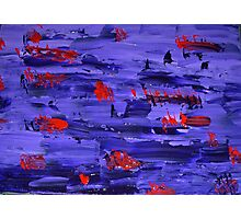 Purple Red Photographic Print