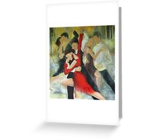 Sentimental tango Greeting Card