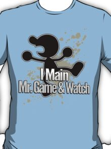 I Main Mr. Game & Watch - Super Smash Bros. T-Shirt