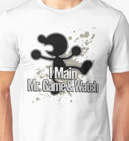 I Main Mr. Game & Watch - Super Smash Bros. Unisex T-Shirt