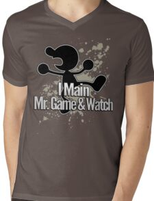 I Main Mr. Game & Watch - Super Smash Bros. Mens V-Neck T-Shirt