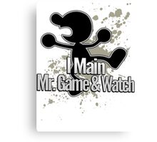 I Main Mr. Game & Watch - Super Smash Bros. Canvas Print
