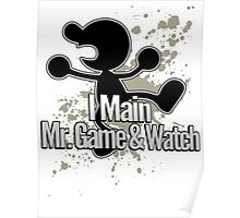 I Main Mr. Game & Watch - Super Smash Bros. Poster