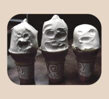 Ice Cream Terror on White by Dave Martsolf